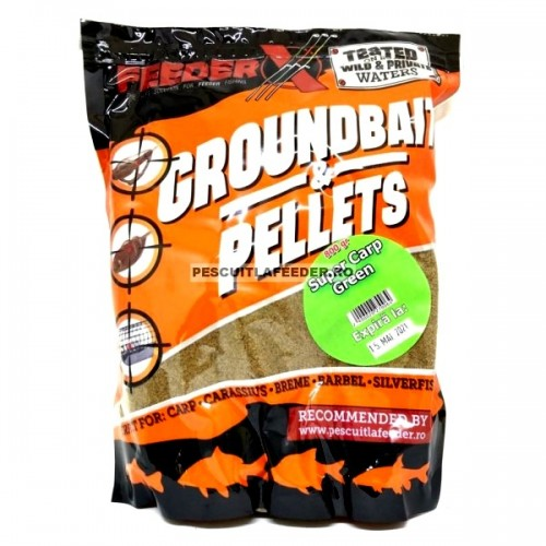 FeederX Super Carp Green 800g, -baitshop
