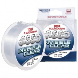 Asso Invisible Clear Fluorocarbon 0.11mm 50m