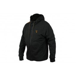 Fox Collection Black&Orange Sherpa Hoody M