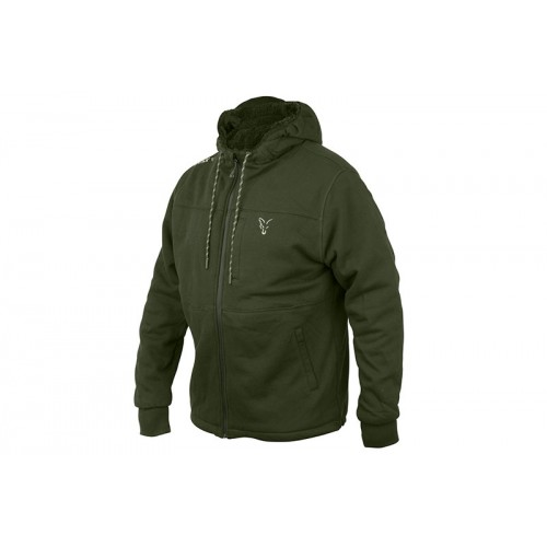 Fox Collection Green&Silver Sherpa Hoody L, Fox International-baitshop