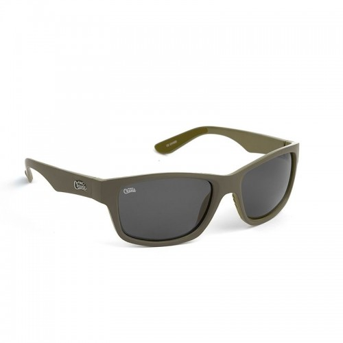 Fox Chunk Sunglasses Khaki Frame/Grey Lens, -baitshop